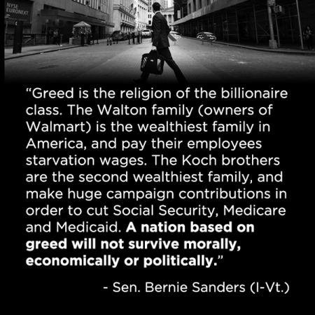 Greed is the religion of the billionaire  class