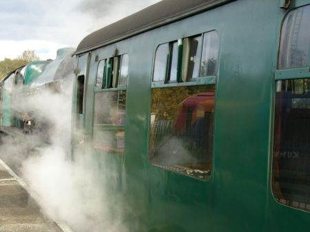 steam train at Alton Station
