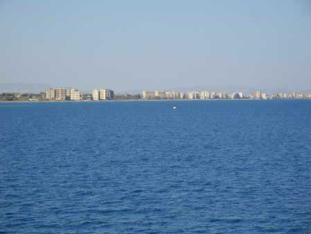 ghost city of Famagusta seen from the sea