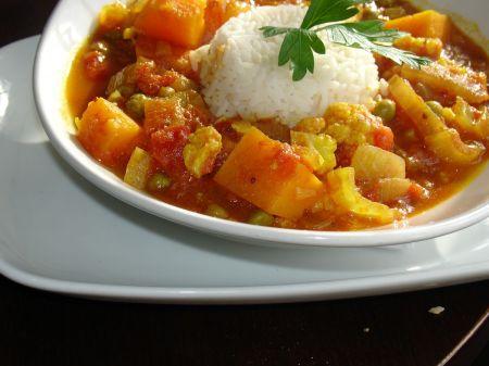 cauliflower and sweet potato curry