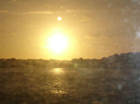 sunset over Frensham Pond