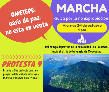 protest against Nicaragua trans-ocean canal