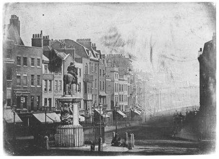 Whitehall as seen from Trafalgar Square 1839.