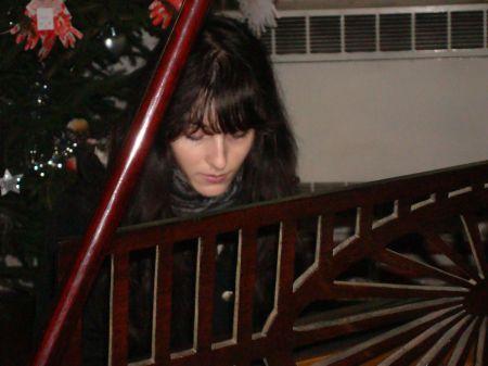 Jewelia playing Schiedmayer piano in Godalming Parish Church