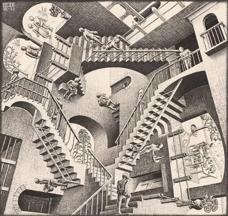 Relativity (1953) - M C Escher