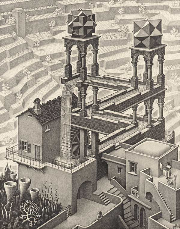 how to draw escher stairs