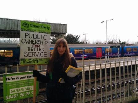 rail fare protest
