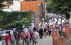400 people on The Big Library March, Sept 2013 alt image