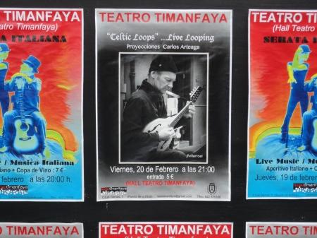 Celtic Looping en el Teatro  Timanfaya