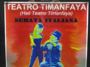 Serata Italiana en Teatro Timanfaya