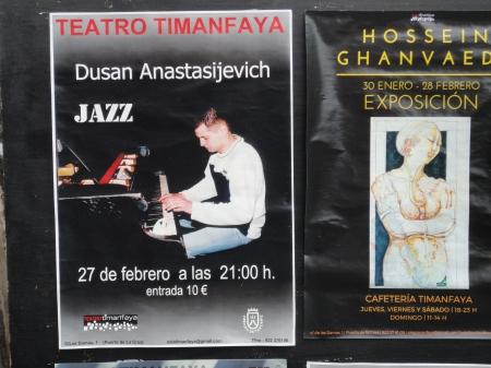 concierto de jazz en Teatro Timanfaya