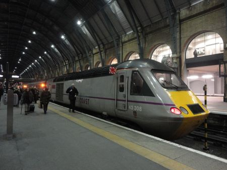 East Coast train at Kings Cross