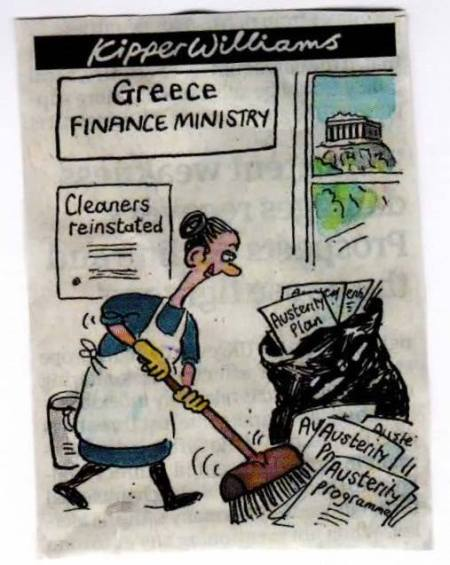 Greek cleaners reinstated