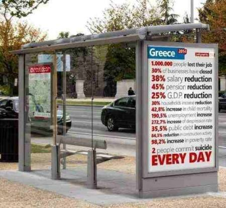 Greek bus stop