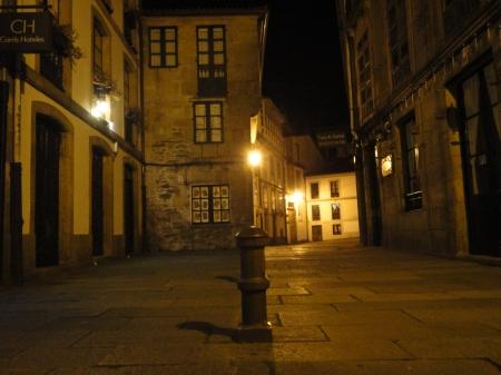 Santiago de Compostela en la noche