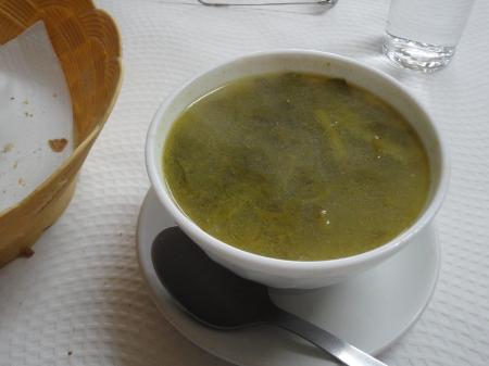 sopa de patatas y verduras
