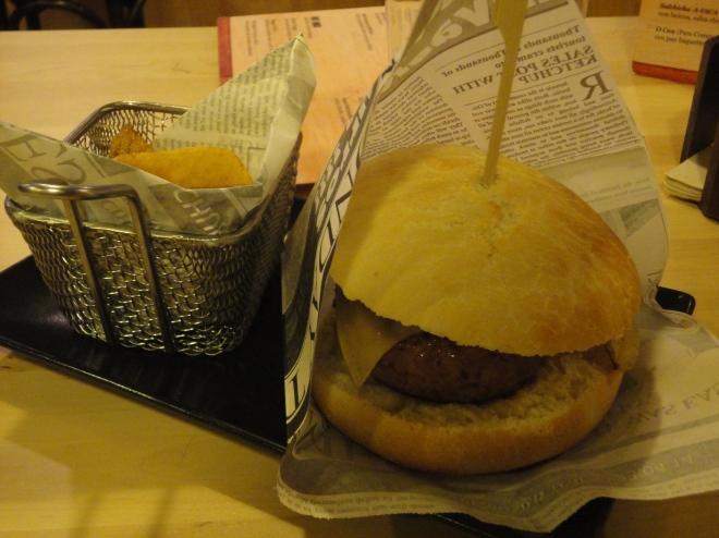 disgusting hamburger in A-Vaca