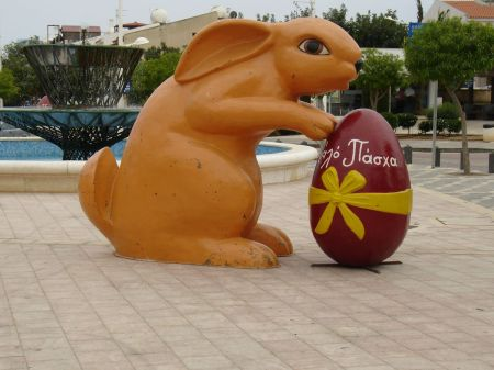 Easter bunny and egg in Cyprus