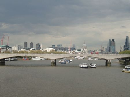 view downstream from Hungerford Bridge