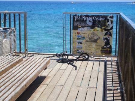 gate left open at end of Protaras Pier
