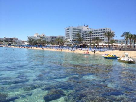 Protaras deserted beach