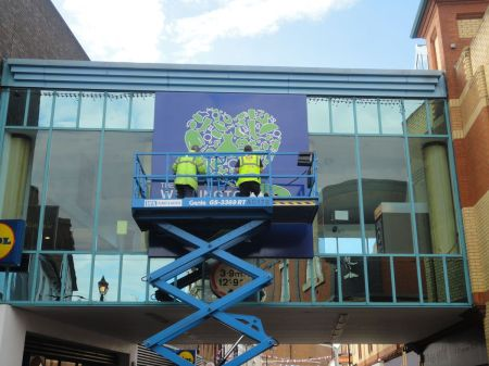 Aldershot shopping centre new sign