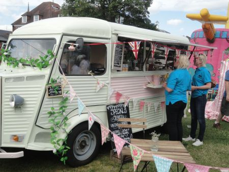 old Citroen van serving coffee