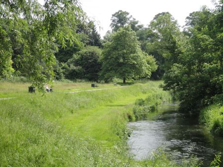 riverside walk along River Wey