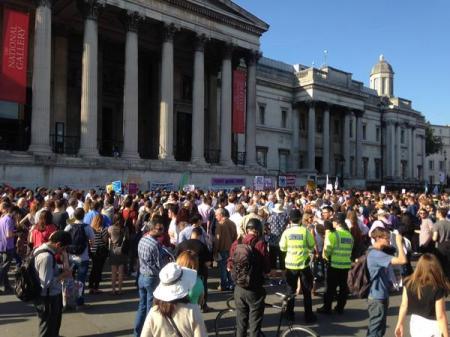 Greece Trafalgar Square protest