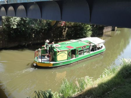 barge on the River Wey