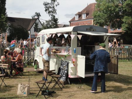 tea van in Gostrey Meadow