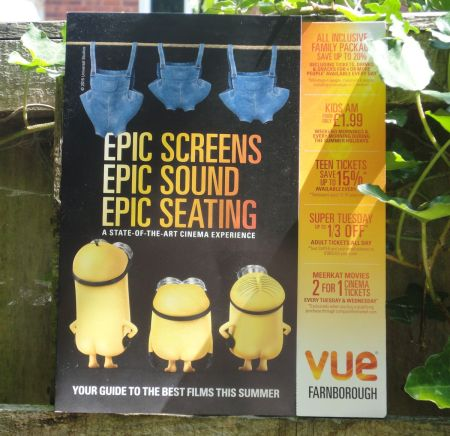 Vue Cinema Farnborough flyer
