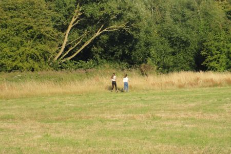 two teenage girls starting fires in Manor Field