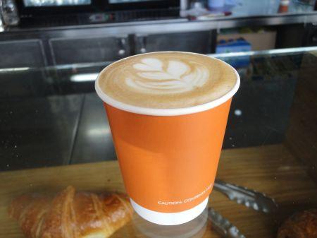 cappuccino at FCB Artisan Coffee kiosk