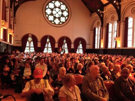 Ealing Town Hall packed ...
