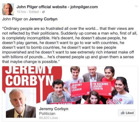 Jeremy Corbyn -- John Pilger