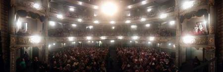 Newcastle Opera House 1500 people inside and 500 on the street outside