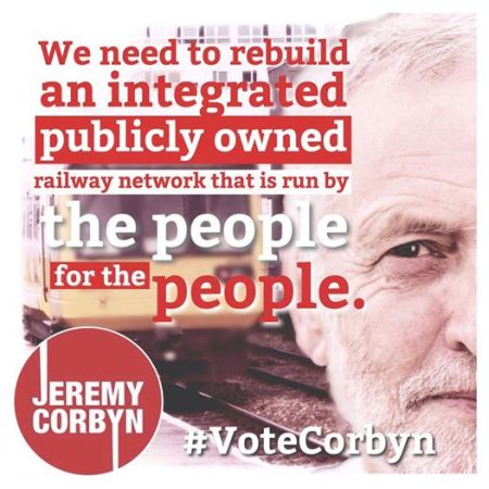 Jeremy Corbyn:  We need to rebuild an integrated publicly owned railway network that is run by the people for the people.