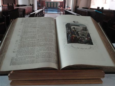 old Bible in Godalming Parish Church