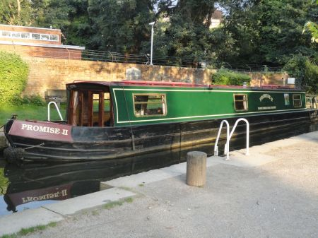 narrow boat Promise II in Milmead Lock