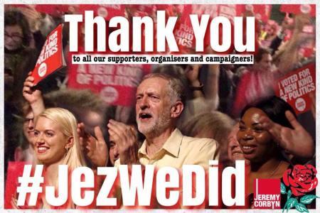 Jeremy Corbyn #JezWeDid
