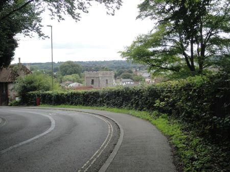 hill down into Winchester