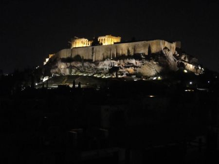 view of The Acropolis whilst dining