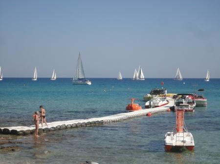 flotilla of yachts