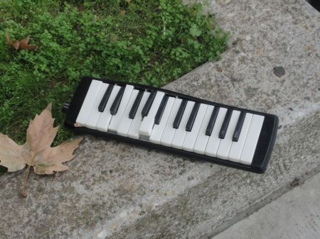 broken musical instrument