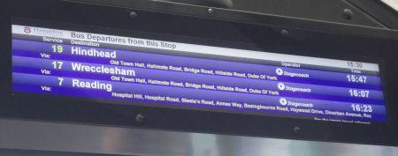 bus stop display