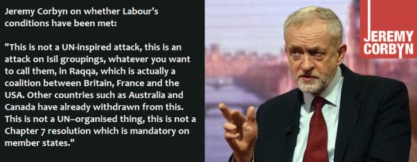 #DontBombSyria Jeremy Corbyn