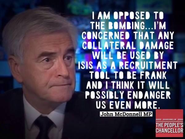#DontBombSyria John McDonnell