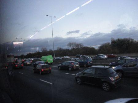 M25 on approach to Heathrow