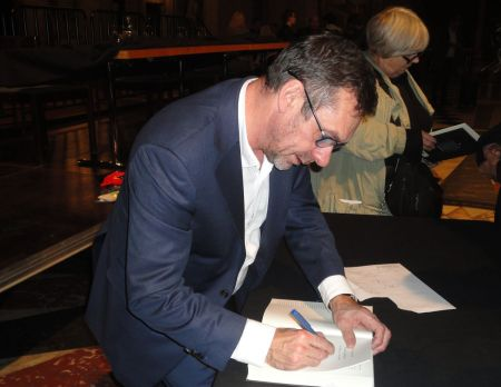 Paul Mason signing PostCapitalism
